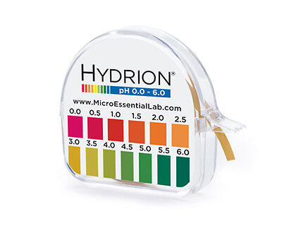 HYDRION BRILLIANT pH 0.0 - 6.0  (0.5 pH INCREMENTS) #96