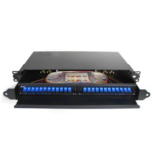 Rack Mount Fiber Termination Box Patch Panel Distribution Frame ODF SC 24 Core
