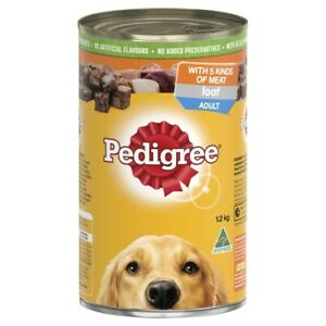 Pedigree Loaf With 5 Kinds Of Meat Adult Wet Dog Food Can 1.2kg
