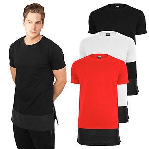 URBAN-Classics-T-Shirt-extra-lunga-long-shirt-tee-oversize-in-ecopelle-orlo-tb818
