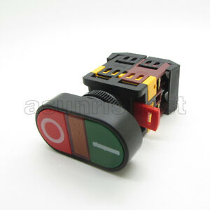 Red Green Momentary Power Start Stop Push Button Switch With Indicator Light