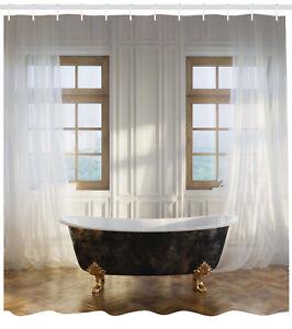 Details About Retro Bathtub In Luxurious Modern Room Interior Clics Design Shower Curtain