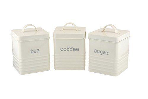 Bread Bin//Boîte à biscuits thé//café sucre Jar Canister Set Carré conteneur de stockage