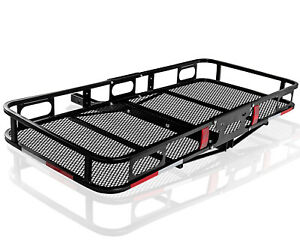 Universal-Cargo-Hitch-Carrier-Rear-Basket-Steel-Frame-for-Auto-Luggage-Travel