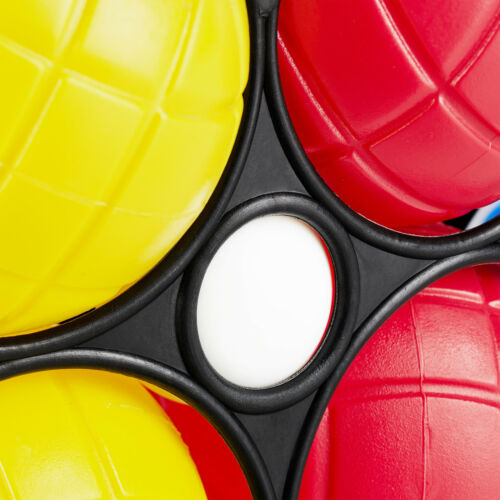 2 x Boccia Spiel Boules Set 12 Boule Kugeln Kunststoff bunt Petanque Tragekorb