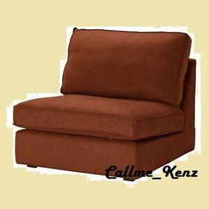 Image Is Loading Ikea Kivik One Seat Sofa Cover Tullinge Rust
