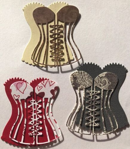 "2-1//4/""x 2-3//4/""Lingerie•Wedding•Stripper •Dancer•Bras 6pc CORSET//BUSTIER Die-Cuts"