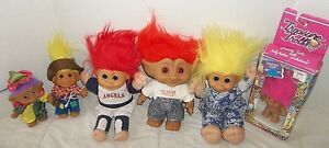 troll dolls lot of 6 russ treasure troll etc ebay
