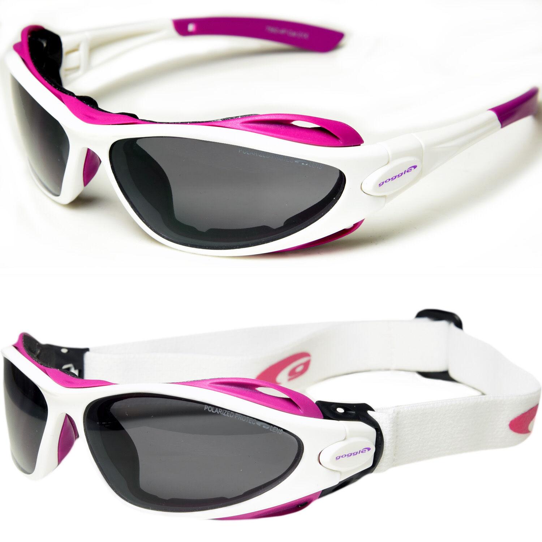 Goggle Damen Multisportbrille Sportbrille - - weiß - Sportbrille mit Band Wechselsystem 769215