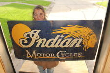 """Large Indian Motor Cycles Motorcycles Gas Oil 48"""" Metal Sign"""