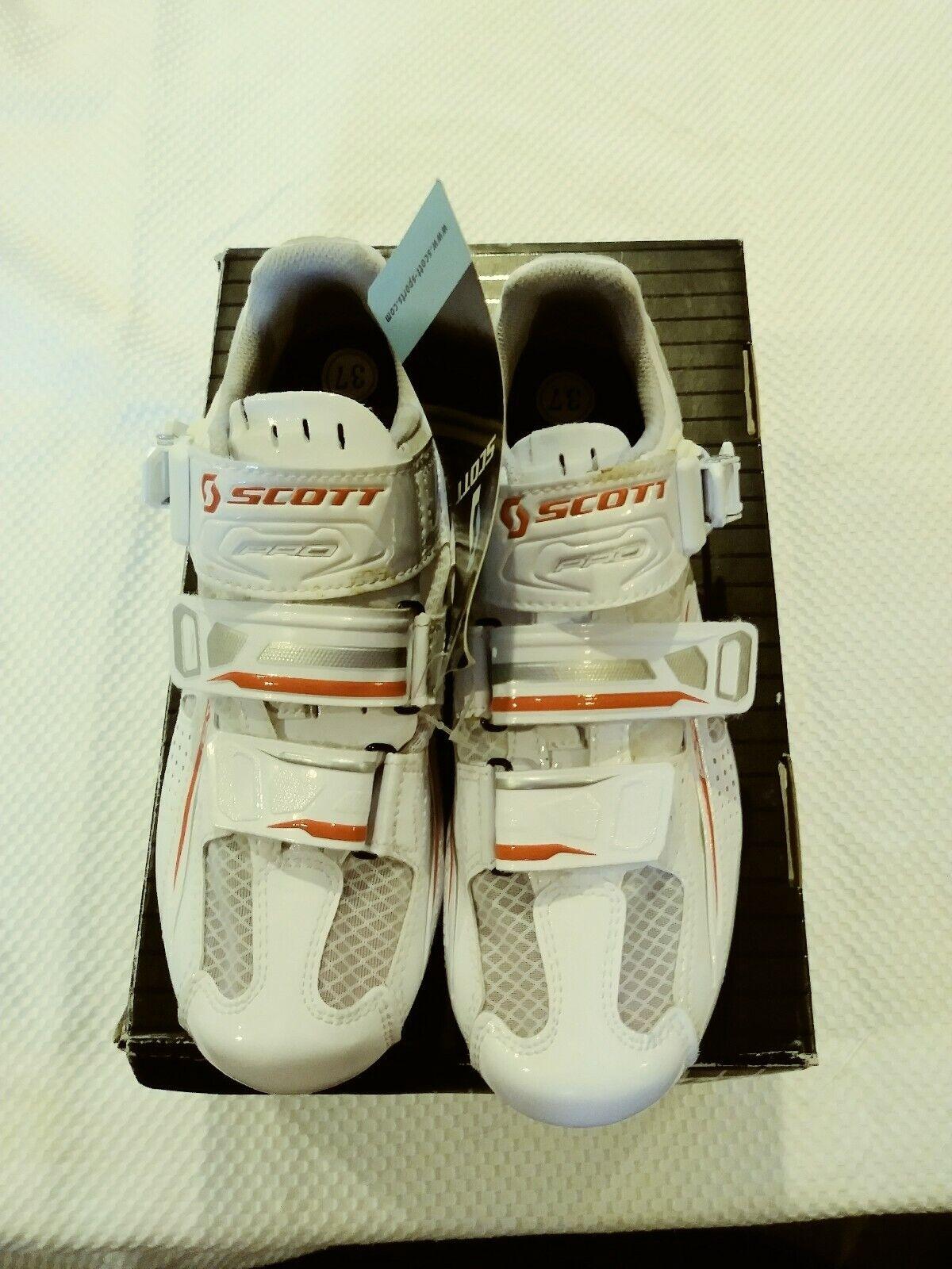 New Women's Scott Road Pro Lady Bike shoes White Gloss US 6 221486-2979003