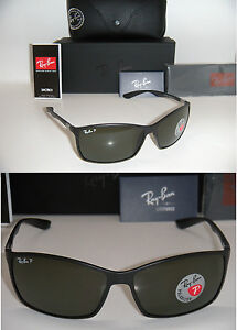 8543fdc1be RAY BAN TECH LITEFORCE RB 4179 601-S 9A 62mm MATTE BLACK WITH GREEN ...