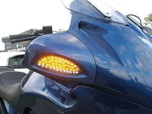 Schwarze-LED-Front-Blinker-BMW-R-850-RT-1100-RT-R-1150-RT-R-1200-CL-Standlicht