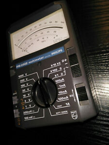 NEU-1984-Analoges-Philips-PM2502-Analog-Multimeter-Pruefspitzen-Sammler-Museum