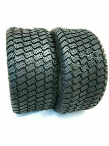 Two 20X10.00-8 4 Ply Tubeless Turf Tire Tractor Riding Mower Pair Two 20x10x8