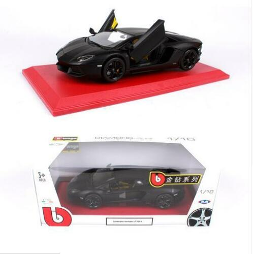 Bburago 1:18 Lamborghini Aventador LP700-4 Diecast MODEL Racing Car Black NIB
