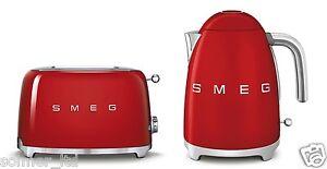 Smeg-50s-style-retro-grille-pain-2-fentes-amp-bouilloire-capacite-1-7-litres-set-rouge
