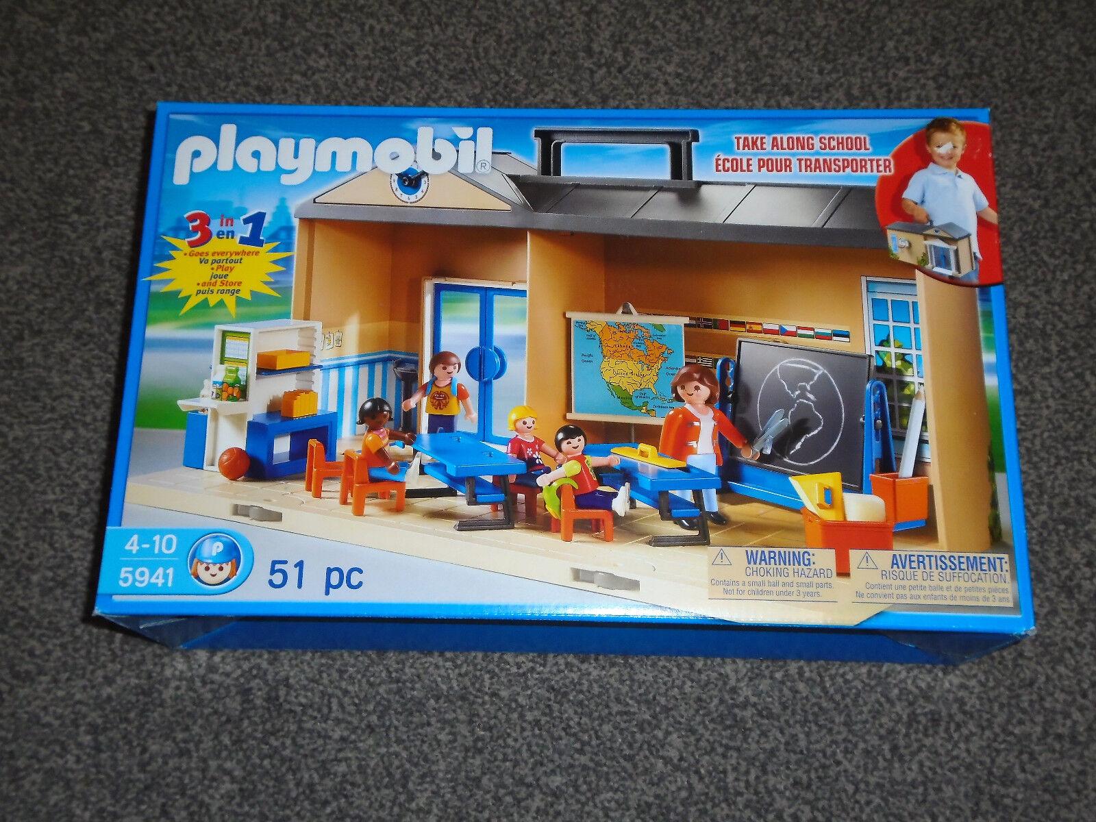 PLAYMOBIL 5941   TAKE ALONG SCHOOL SET - RARE NEW & SEALED PLAYSET (FREE UK P&P)