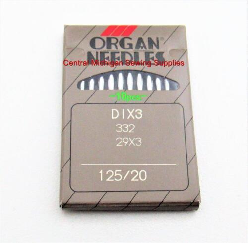 Organ Aiguilles pack de dix 29x3 taille 20 125//20 SINGER machine à coudre modèle 29K