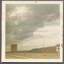 Vintage Photo Car Window View Roadside Utah State Line Sign on Highway 731888