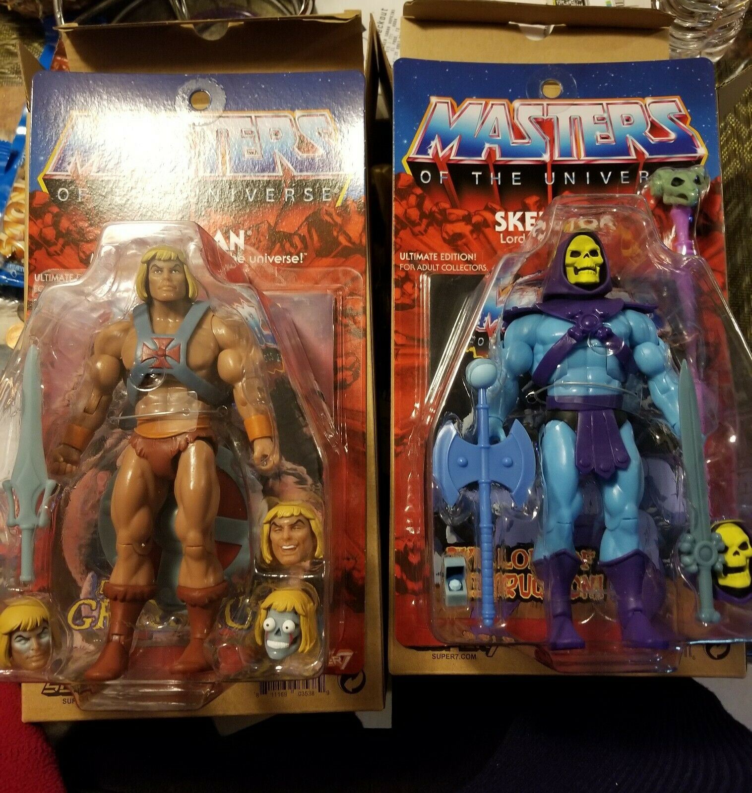 Masters of the Universe Ultimate He-Man & Skeletor 2.0 Filmation Super7