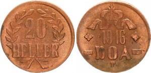 German East Africa 20 Heller 1916T J.727a Plug! 55-56MS/M (1) Prfr. (43906)
