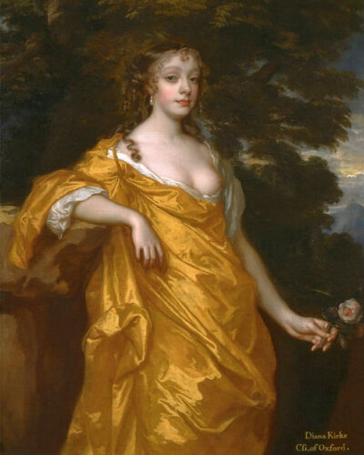 Woman Breast 8x10 Print 2279 Diana Kirke Countess of Oxford by Peter Lely