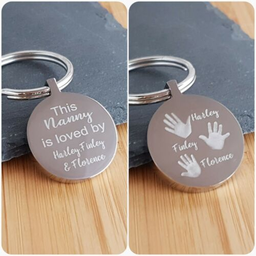Birthday gift Personalised Gift This Mummy//Daddy is Loved By Engraved Keyring