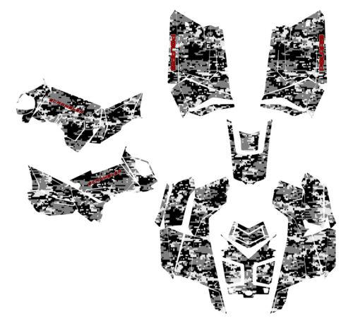 Polaris Scrambler 850 1000 Graphics ATV Sticker Kit Digital Camo Gray Metal