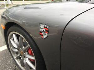 Image Is Loading Stuttgart The Home Of Porsche Magnetic Fender Badge