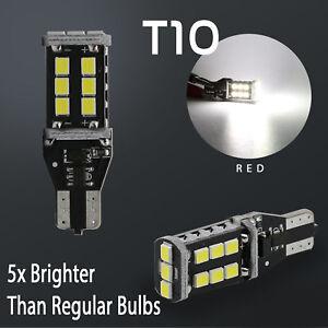 2X T10 1400 Lumens 60W High Power LED 6000K White Backup Reverse Light Bulbs  736902397404