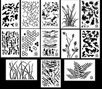 Spray Airbrush Paint Camouflage Stencils 10 Mil Camo Duracoat 9x14 (13 Designs)