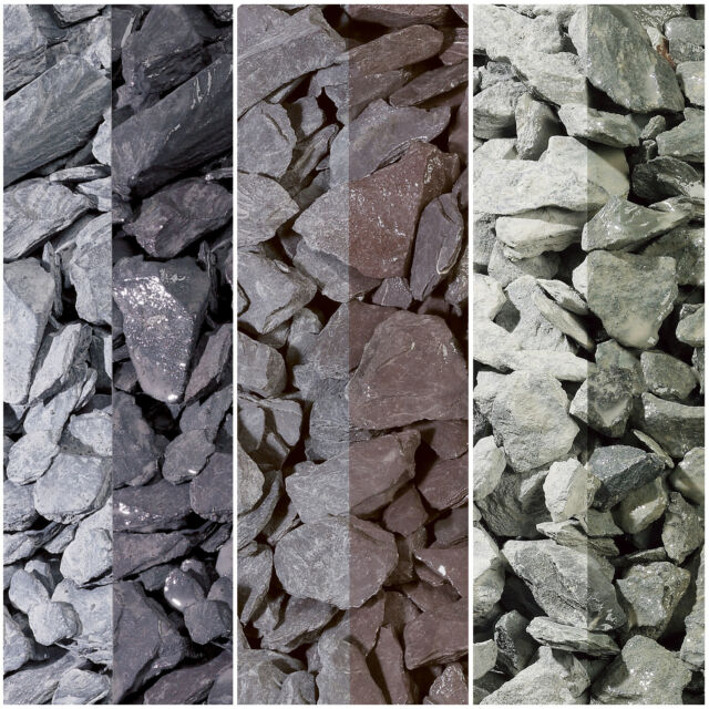 Decorative Graphite Grey Black Garden Slate 20mm 3 x Large Bags