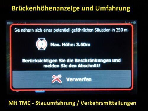 """PKW WOHNMOBIL UND CAMPER. 7/""""   Navi Mit TMC-PRO Stauumfahrung  fur LKW BUS"""