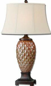 "33"" Horchow Ceramic Table Lamp PINEAPPLE Pinecone Accent ..."