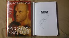 Signed Randy Couture Becoming the Natural UFC Legend 1/1 HC DJ Book Fighting TKO