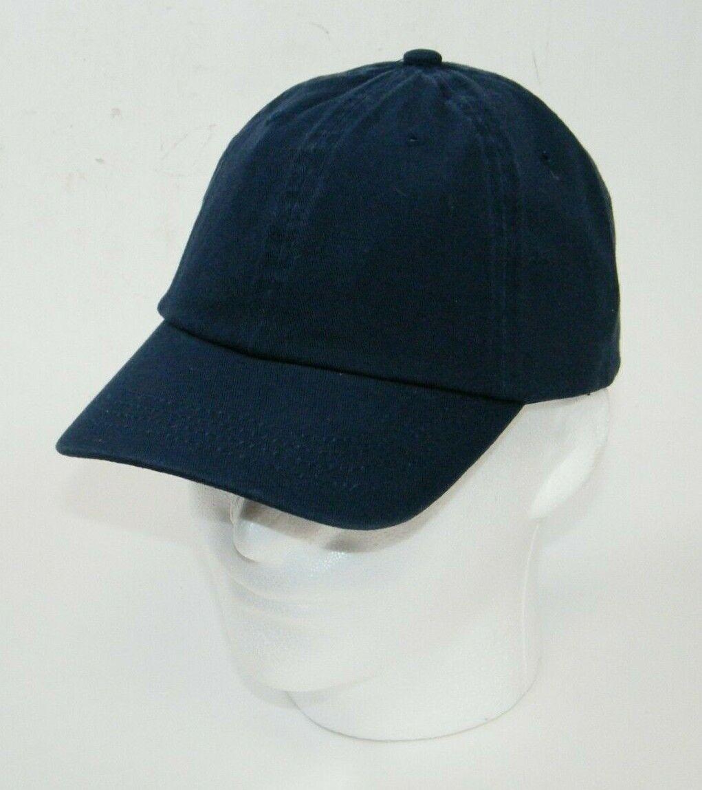 (10) FAHRENHEIT HEADWEAR 608 YOUTH CAPS / HATS NAVY BLUE SLIDE TUCK CLOSURE