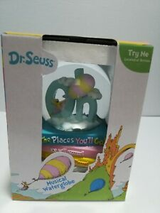 Dr Seuss Musical Snow Globe Water Oh The Places You'll Go New Career School Baby