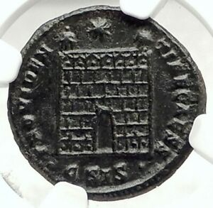 CONSTANTINE-II-Junior-Authentic-Ancient-324AD-Roman-Coin-w-CAMP-GATE-NGC-i76302