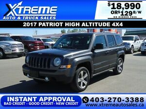 2017 Jeep Patriot High Altitude Ed *INSTANT APPROVAL* $129/BW!