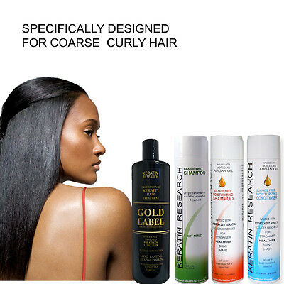 Gold Label Powerful Brazilian Keratin Blowout Hair Complex Treatment Large Kit