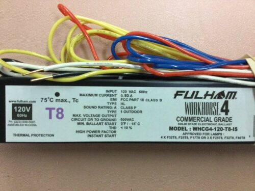 COMMERCIAL GRADE FULHAM WORKHOUSE 4 OUTDOOR ELECTRONIC BALLAST WHCG4-120-T8-IS