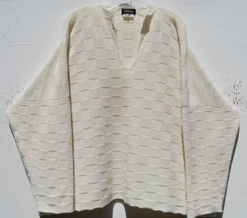 Cashmere Shadow Eskandar Square Sweater Ivory 2190 O s V Medium Weight neck w7qSOg
