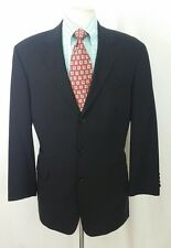 Hugo Boss Angelico/Lucca 3-Button Jacket 42R Black Wool Suit Slacks 30W x 32L
