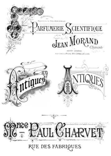 1208 Pegatinas-muebles tatuaje-transparente-sticker-SHABBY Vintage-French