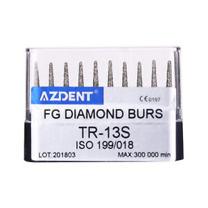 Dental Diamond Bur TR-13S Bur Kit Abrade Crown Cavity Preparation Super Coarse