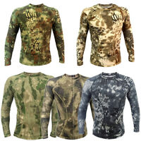 Camouflage Polyester Tactical Performance T-shirt Quickdry Camo Unisex Tee Shirt