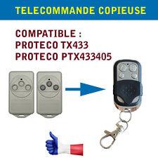 TELECOMMANDE UNIVERSELLE PROTECO TX433 433.92MHz COMPATIBLE COPIEUSE PORTAIL