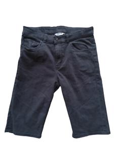H&m shorts male black denim