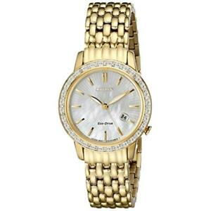 Women s Gold-tone Citizen Eco-drive Diamond Watch Ew2282-52d for ... da59b25730